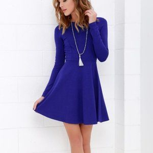 Lulu's Forever Chic Royal Blue Dress XS